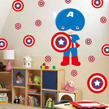 Marvel S Avengers Batman Wall Stickers Captain America Wall Decals For Kids Room Cartoon Super Hero Wall Art Decor Buy At The Price Of 3 67 In Aliexpress Com Imall Com