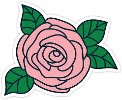Amazon Com Pink Rose Vinyl Decal Laptop Decor Window Vinyl Decal Sticker 4 Vinyl Decal Arts Crafts Sewing