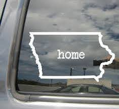 Iowa State Home Outline Ia Usa America Car Vinyl Die Cut Decal Sticker 07037 Ebay