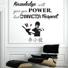 Knowledge Give You Power But Character Respect Removable Wall Sticker Ebay