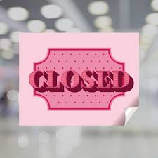 Pink Closed Window Decal Plum Grove