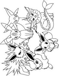 Mewarna08 Kleurplaat Pokemon Eevee Evolutions