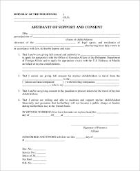 sle affidavit of support forms