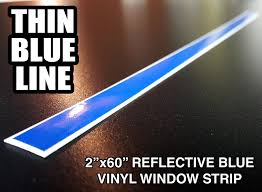 Amazon Com Oracal 3m 2x60 Thin Blue Line Reflective Window Decal Sticker Police Blue Lives Matter By A1a Sales Automotive