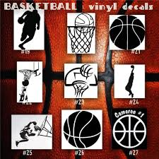 Basketball Vinyl Decals 19 27 Bball Stickers Hoops Car Decal Custom Window Decal Personalized Sticker Custom Window Decals Vinyl Decals Car Decals