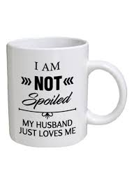 shop spoil your wall funny husband quote coffee mug white black