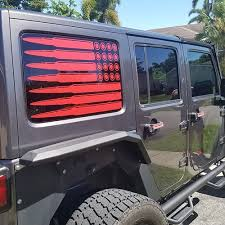 Usa Bullet Flags Window Decals 4x4 Graphics Llc
