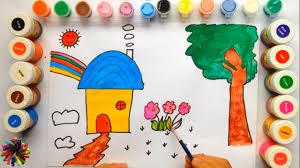 Vẽ Khu Vườn Thật Dễ bằng Màu Nước |