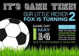 Soccer Invitation Sports Birthday Soccer Printable Soccer