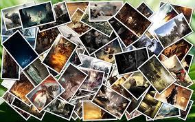 photo collage desktop background mac
