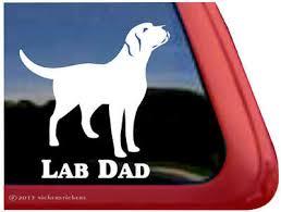 Lab Mom High Quality Vinyl Labrador Retriever Dog Window Decal Sticker 7 99 Picclick