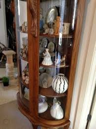 china cabinet claw foot curved glass