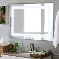 led wall mounted rect mirror makeup