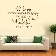 Wake Up Every Morning With Wonderful Quote Art Words Wall Sticker Decal Uk 286 Ebay