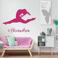 Gymnastic Wall Decal For Girls Vinyl Decor Wall Decal Customvinyldecor Com