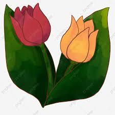 زهور ثلاثية الأبعاد زهور صفراء ورود حمراء أوراق خضراء أوراق خضراء ثلاثي رسم Png وملف Psd للتحميل مجانا