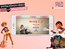 Coco Video Invitacion Para Enviar Por Whatsapp Pac 400 00 En