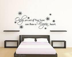 Frozen Disney Love Quote Wall Art Vinyl Transfer Kids Bedroom Decal Sticker Ebay