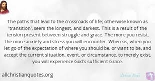 deborah brodie quote about cross life transition path