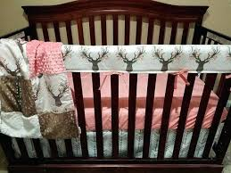 crib bedding with deer navy blue mint