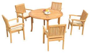 6 piece outdoor teak dining set 52