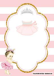 Free Ballerina Baby Shower Invitations Templates Bagvania Con