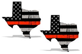 Red Lives Matter Subdued American Flag Vinyl Fireman Sticker Car Decal 2 Pk