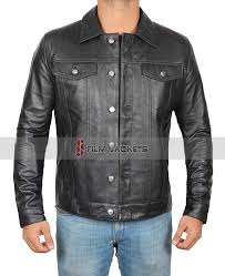 mens casual leather jacket 40 ed