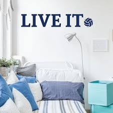 Volleyball Live It Quote Wall Decal Live Vinyl Decor Wall Decal Customvinyldecor Com