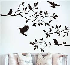 Black Bird Tree Branch Wall Stickers Decal Removable Home Decor Mural Vinyl For Sale Online