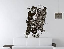 Amazon Com Wall Decal Wall Decal Anime Comics Wall Sticker Vinyl Sticker Anime Girl Dragon Tattoo Gift Bedroom Holl Kau 428 Handmade