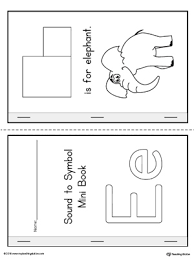 letter e cut and paste printable mini