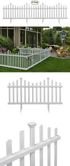 Fence Panels 139946 Outdoor Fence Kit No Dig Vinyl Movable Small Kids Pets Yard Decor Garden Border Buy It Now Only Outdoor Fence Panels Outdoor Fencing