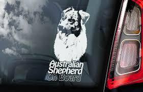 Australian Shepherd Car Sticker Aussie Dog Window Decal Sign Pet Gift V04 Ebay