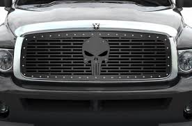 Dodge Ram Custom Grill 02 05 Punisher Racerx Customs Truck Graphics Grilles And Accessories