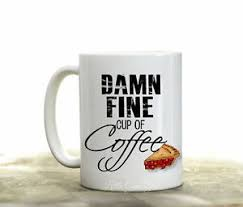 damn fine cup of coffee mug funny coffee quotes coffee cup