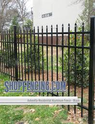 Asheville Residential Aluminum Fence Section