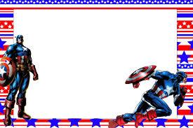 Capitan America Invitaciones Imagenes Y Fondos Para Imprimir