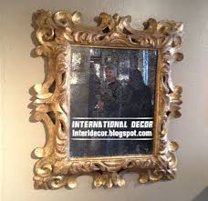 classic mirror frames golden for wall