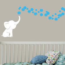 Shop White Elephant With Colored Bubbles Vinyl Nursery Room Wall Decal On Sale Overstock 16867638