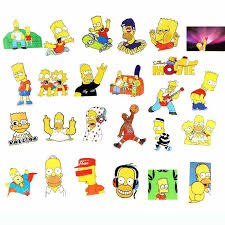 25 Pcs Simpson Cartoon Waterproof Stickers For Laptop Car Styling Phone Luggage Bike Motorcycle Wall Decal Skateboard Stickers Stickers Aliexpress