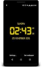 led digital clock live wallpaper apk