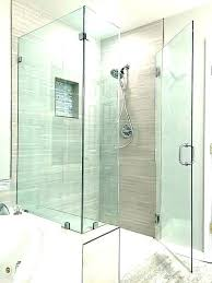 glass shower door for tub seal strip