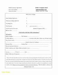 wedding hair makeup contract template