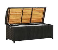 vidaxl garden storage bench 47 2 poly