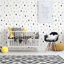Small Raindrop Wall Sticker For Kids Room Baby Girl Room Wall Decor Baby Boy Room Home Decor Children Bedroom Wall Stickers Wall Stickers Aliexpress