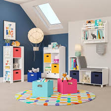 Riverridge Home Kids White Wall Shelf With Cubbies And Bookrack 02 164 The Home Depot
