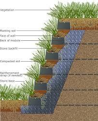 vegetated living retaining wall