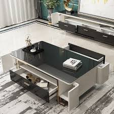black 51 inch storage coffee table