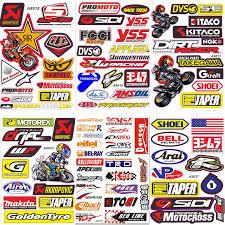 Racing Hrc Mx Sticker Vinyl Decal Sheet Helmet Car Dirt Bike Tablet Motorsports
